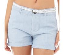 Superdry Damen Lurex Hot Hotpants Blau