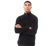 Chenille 1/2 Zip Strick Navy