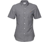 Farah Vintage Herren Argyle Slim True Hemd mit kurzem Arm Kariert