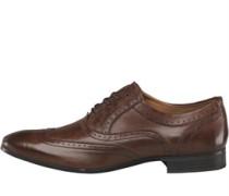 Herren Court Brogue Schuhe Waxy Brown