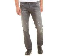 Herren Belther 0673P Jeans mit zulaufendem Bein Verblasstes Grau