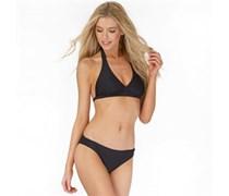 Only Damen Caroline Halter Neck Bikini Schwarz