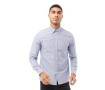 Castle Cotton Oxford Hemd mit langem Arm Hellmeliert