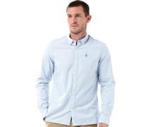 Herren Longpoint Striped Hemd mit langem Arm Himmelblau