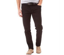 Onfire Herren Stretch Jeans in Slim Passform Schwarz