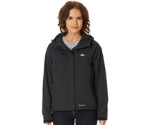 Trespass Damen Miyake Hooded Waterproof Shell Performance Jacket Schwarz