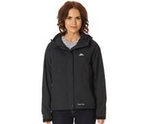 Trespass Damen Miyake Hooded Waterproof Shell Performance Jacket Schwarz