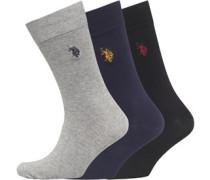 Drei Pack Socken Grau