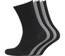 Damen Zoe Fünf Pack Socken Schwarz