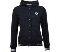 Converse Womens Core Hooded Bomber Jacket Charcoal Grey Heather
