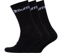 Mens Three Pack Classic Socks Black