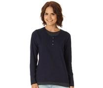 Onfire Damen Bluse mit langem Arm Blau