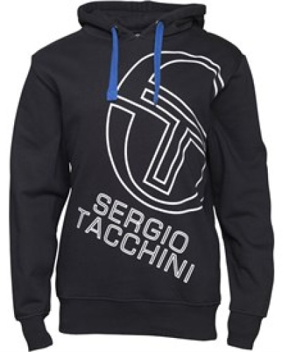 sergio tacchini herren sergio tacchini mens stackhouse large logo hooded sweat black 61 reduziert. Black Bedroom Furniture Sets. Home Design Ideas