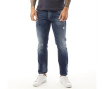 Cibola Jeans in Slim Passform Dunkel Denim