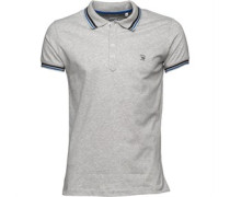Diesel Mens T Oin Polo Grey