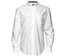 Gant Herren The Academic Oxford Hemd mit langem Arm Weiß