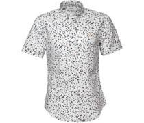 Farah Vintage Herren Camble Slim Hemd mit kurzem Arm Mehrfarbig