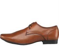 Onfire Mens Leather Derby Shoe Tan