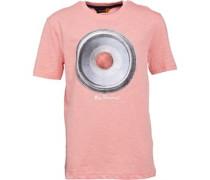 Ben Sherman Junior Speaker Printed T-Shirt Strawberry Marl