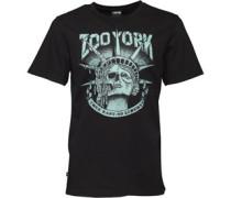Herren Death Of Liberty Graphic T-Shirt Schwarz