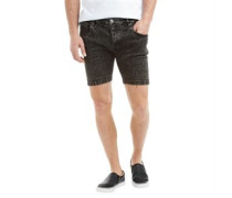 Herren Woodley Denim Shorts Black Acid Wash
