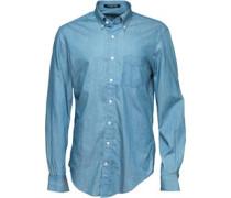 Gant Herren The Perfect Hemd mit langem Arm Blau
