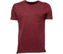 Herren Arkham T-Shirt Dunkelburgunderrot