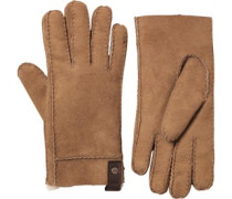 UGG Australia Womens Shearling Sidewall Glove With Leather Tab Chestnut