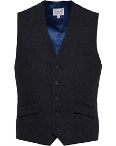 Tweed Weste Dunkelgrau