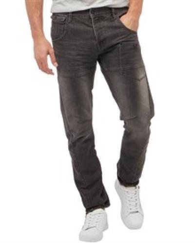 Herren Kractus Utility Jeans in Slim Passform Hellgrau