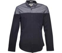 Original Penguin Mens Colourblock Chambray Shirt Dark Sapphire