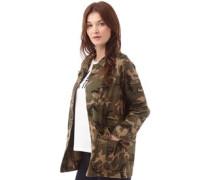 Brave Soul Damen Jasadge Camo Twill Camo Militärjacke Khaki