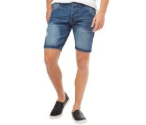 Herren Willis Denim Shorts Denimmeliert Blau