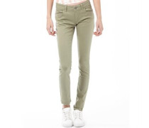 Damen Skinny Jeans Khaki