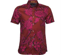 Ted Baker Mens Flowley Large Scale Floral Shirt Red