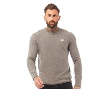 Secure Pullover mit Rundhalsausschnitt meliert