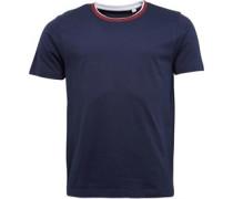 Herren Double Collar T-Shirt Navy