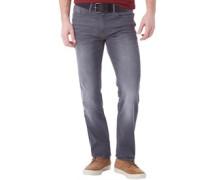 Herren Jeans mit geradem Bein Hellgrau