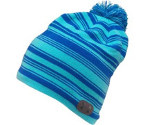 Womens Coldgear Evo Striped Bobble Hat Blue