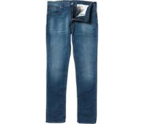 Herren J06 Jeans in Slim Passform Denimmeliert Blau