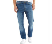 Herren Basicon Jeans mit geradem Bein Verblasstes Blau