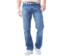 Crosshatch Herren Baltimore ed Midwash Jeans in regulär Passform Blau
