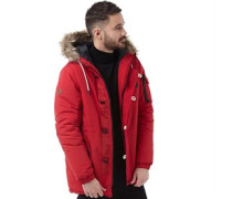 Bellfield Mens Totto Technical Parka Red