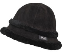 UGG Australia Womens Exposed Shearling City Bucket Hat Black