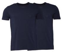 Herren Zwei Pack T-Shirt Navy