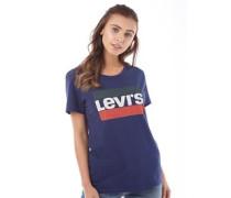 Damen The Perfect Sportswear Logo T-Shirt Blau