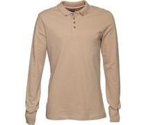 Mens Lincoln Long Sleeve Polo Shirt Mushroom
