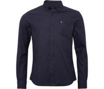 Farah Vintage Herren Hambleton Hemd Mit Langem Arm Grau