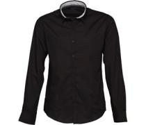 Mens Tudor Long Sleeve Shirt Black