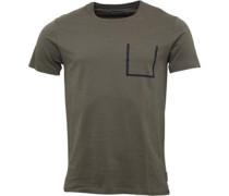 Herren Outline Pocket T-Shirt Khaki